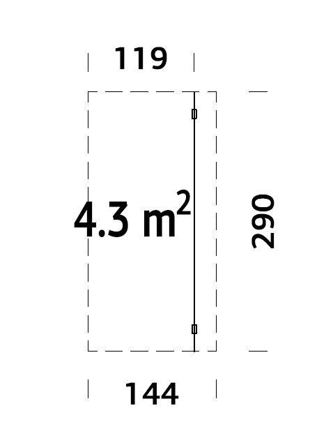 Přístřešek k dřevěné chatě 4,3 m2