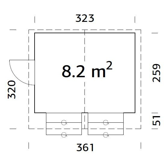 Prodejní stánek kiosek Stela 8,2 m2