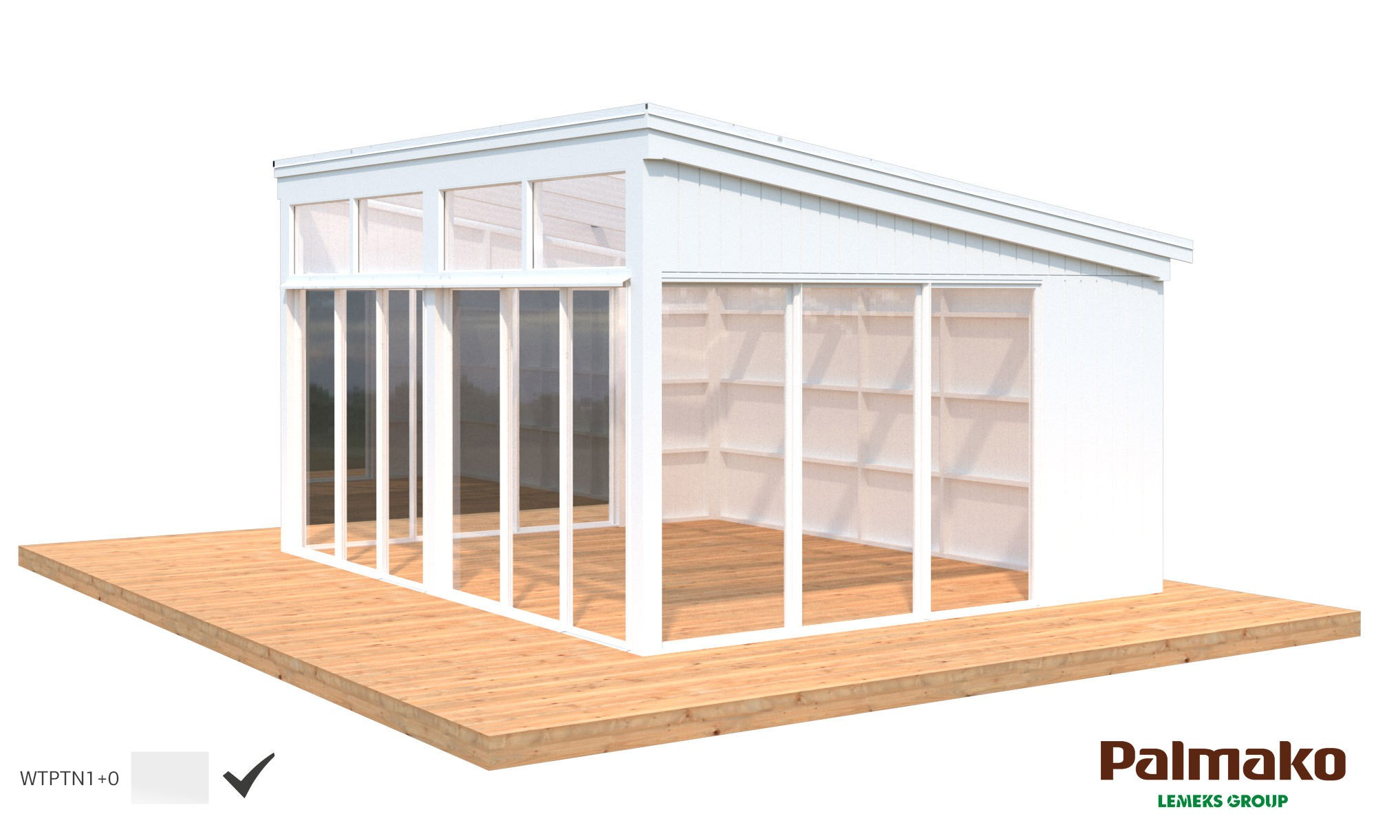 Zahradní altán Nova 17,8 m2