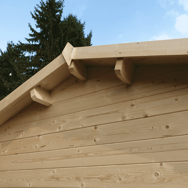 Garážové stání Roger 23,9 m2 s dřevěnými vraty