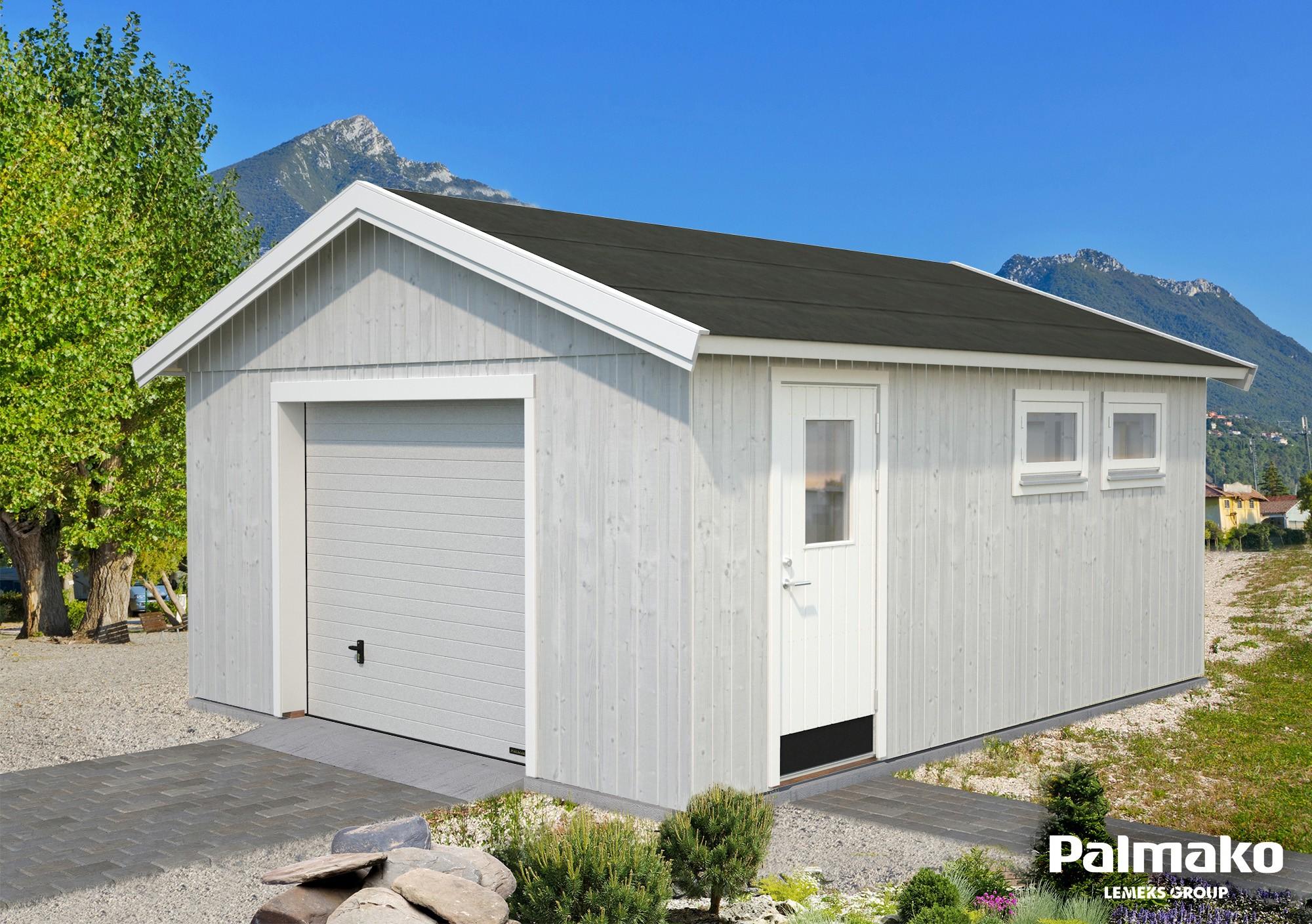 Dřevěná garáž Andrej 21,5 m2 se sekčními vraty