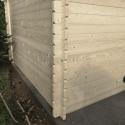 Zahradní chata Andrej 28,5 m2 se sekčními vraty