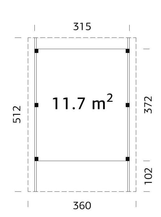 Garážové stání Karel 11,7 m2