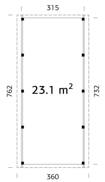 Garážové stání Karel 23,1 m2