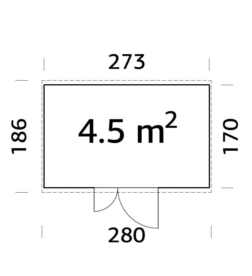 Zahradní přístavek Leif 4,5 m2
