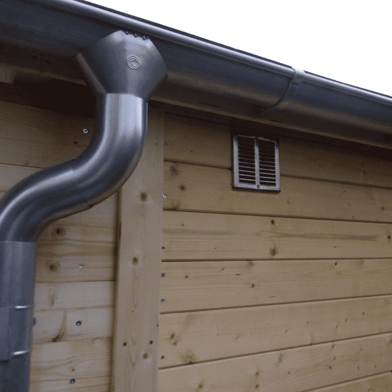 Dřevěná garáž Andrej 44,7 m2 bez vrat