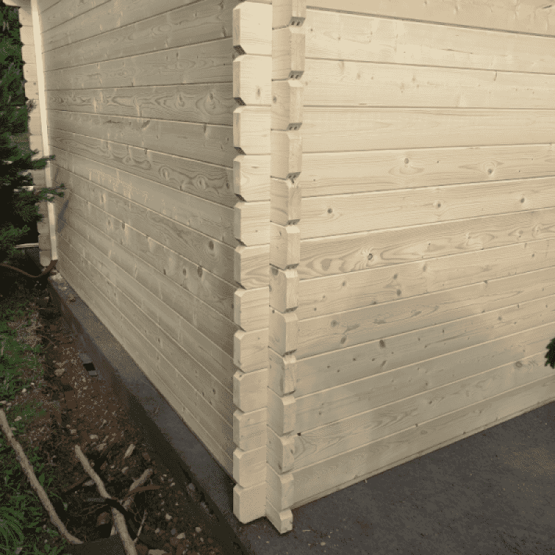 Dřevěná garáž Andrej 28,5 m2 bez vrat