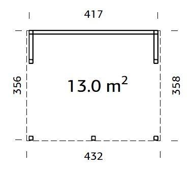 Zahradní altán Nova 13 m2