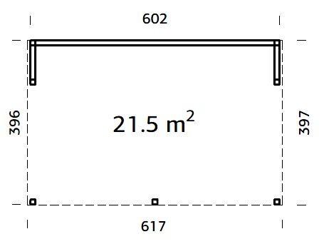 Zahradní altán Nova 21,5 m2