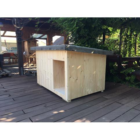 Zateplená dřevěná psí bouda XL