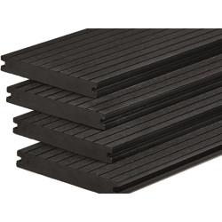 WPC podlahové prkno Excellent Charcoal plné