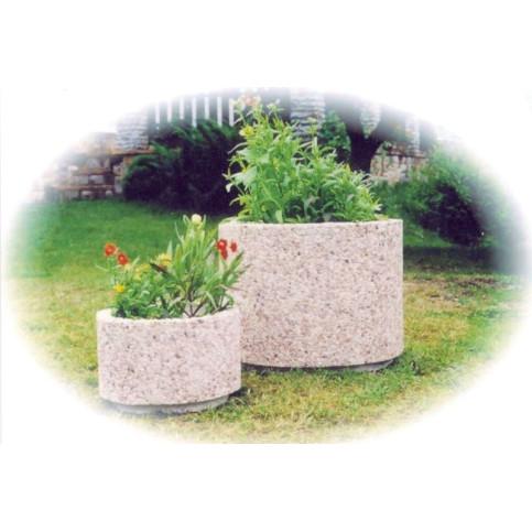 Betonový květináč kulatý 30 x 15