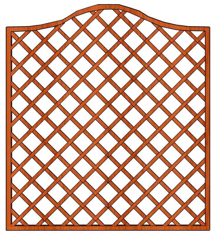 Mříž Cecílie 180 x 200/180