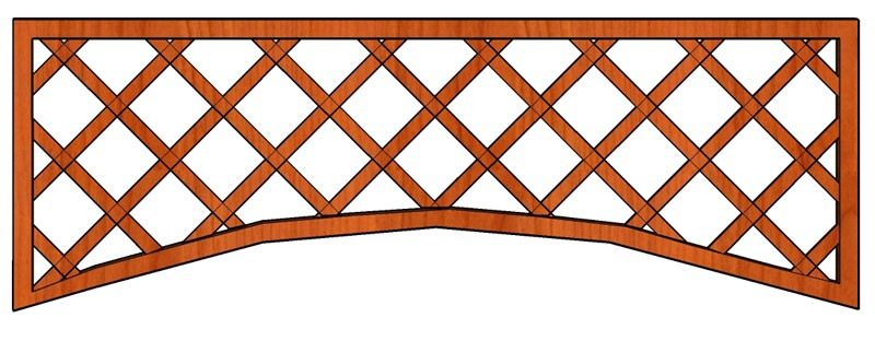 Mříž Cecílie 180 x 65