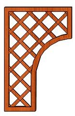 Mříž Lada 30-65 x 100