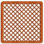 Mříž Tereza 180x180cm oko 10x10cm