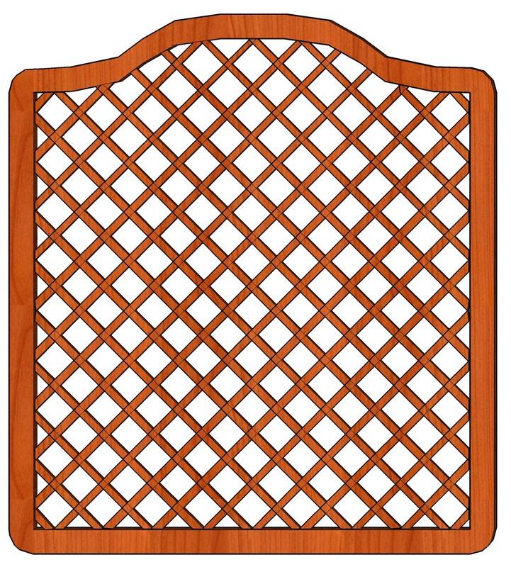 Mříž Tereza s vlnkou 180 x 180/200