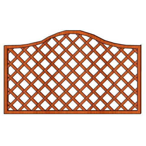 Mříž Zuzana s vlnkou 180 x 90