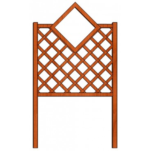 Mřížka nad truhlíky Čtverec 98 x 150