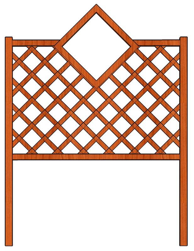Mřížka nad truhlíky Čtverec 128 x 150