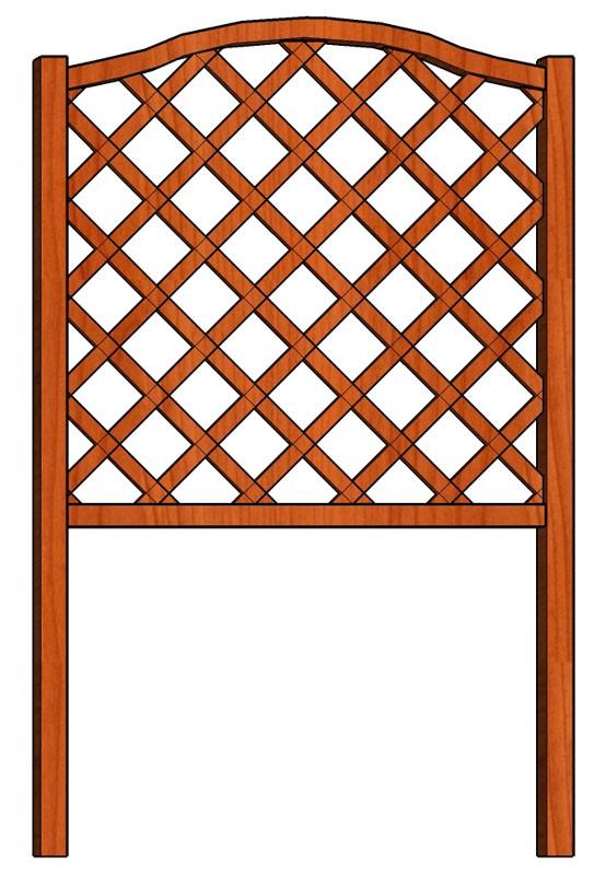 Mřížka nad truhlíky Fešák 98 x 150