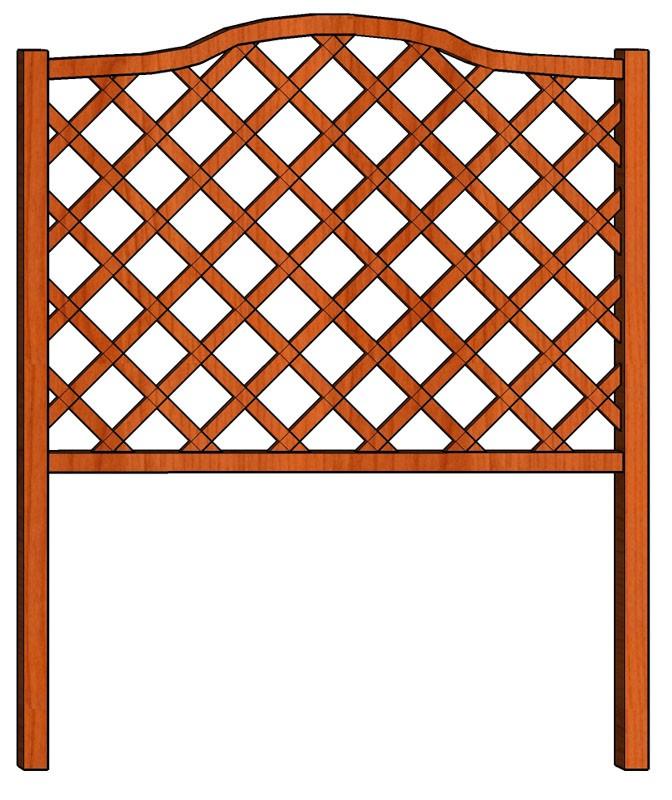 Mřížka nad truhlíky Fešák 128 x 150