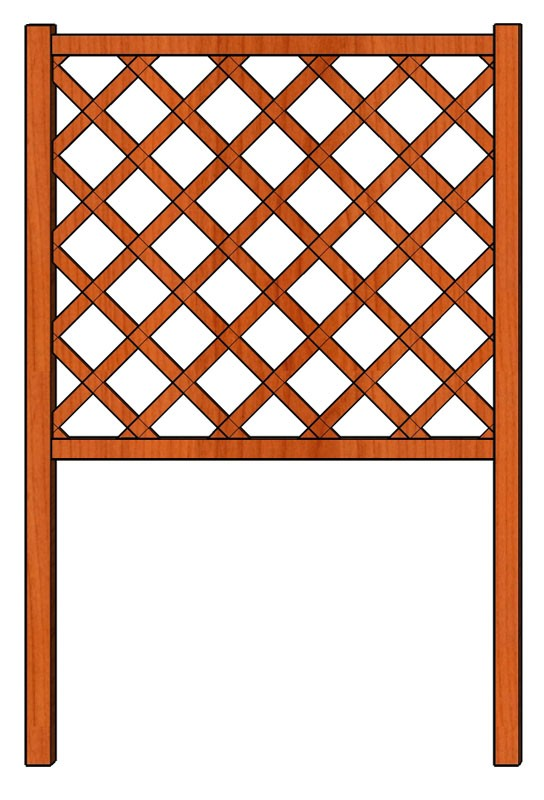 Mřížka nad truhlíky Obdélník 98 x 150