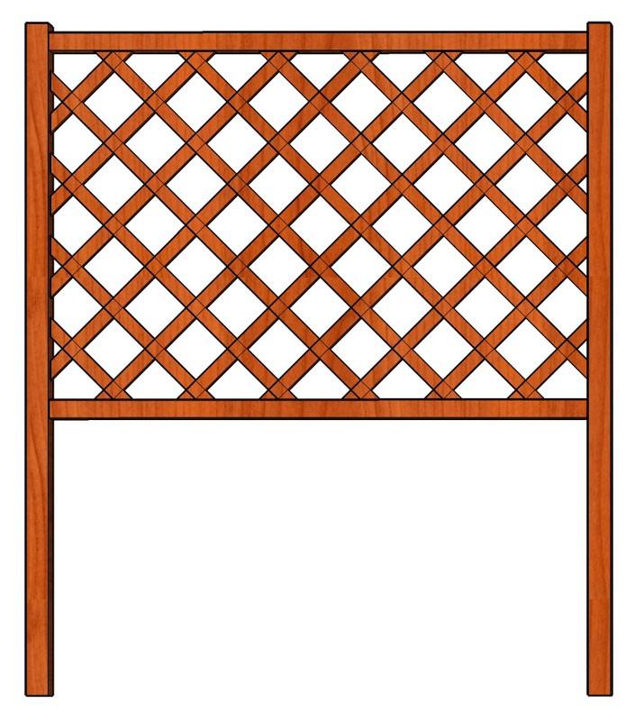Mřížka nad truhlíky Obdélník 128 x 150
