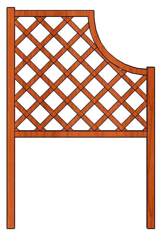 Mřížka nad truhlíky Oblouk 98 x 150