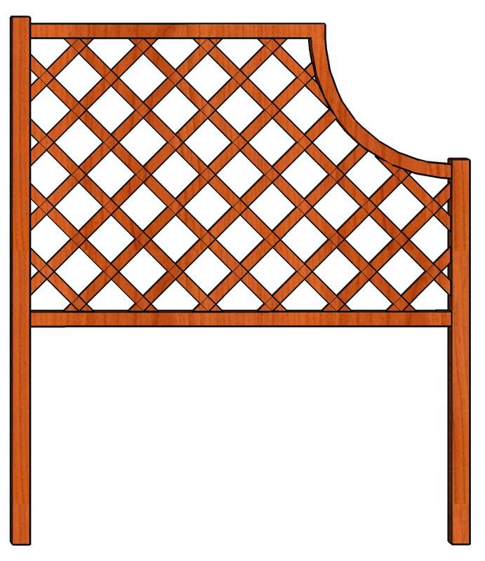 Mřížka nad truhlíky Oblouk 128 x 150