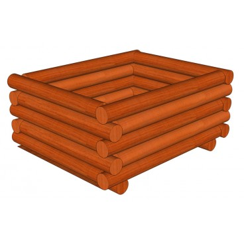 Palisádový truhlík 110 x 110 x 45