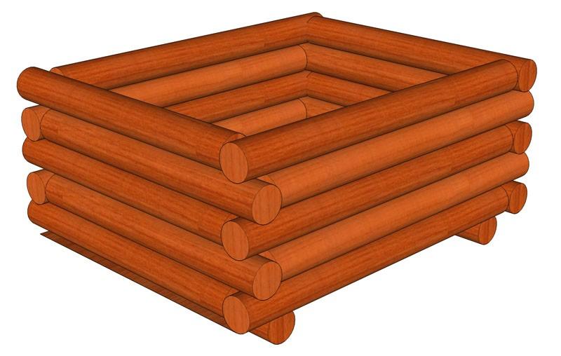 Palisádový truhlík 90 x 110 x 45