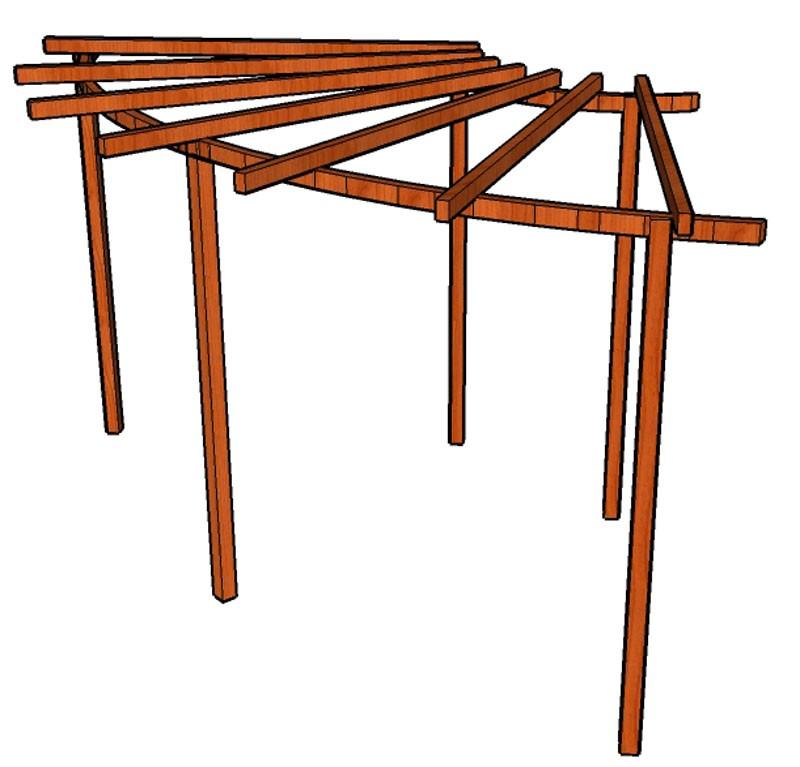 Pergola Linda 12 stojky 9 x 9 cm