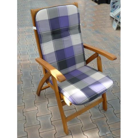 Polstr na křesla a židle s vysokou opěrkou vzor fialová  kostka