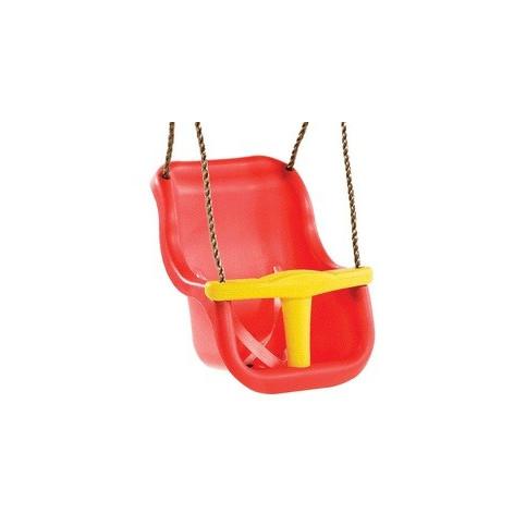 Sedátko Baby Luxe červeno žluté