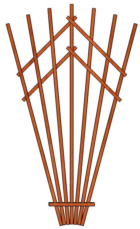 Vějíř Dekora 205x150 cm