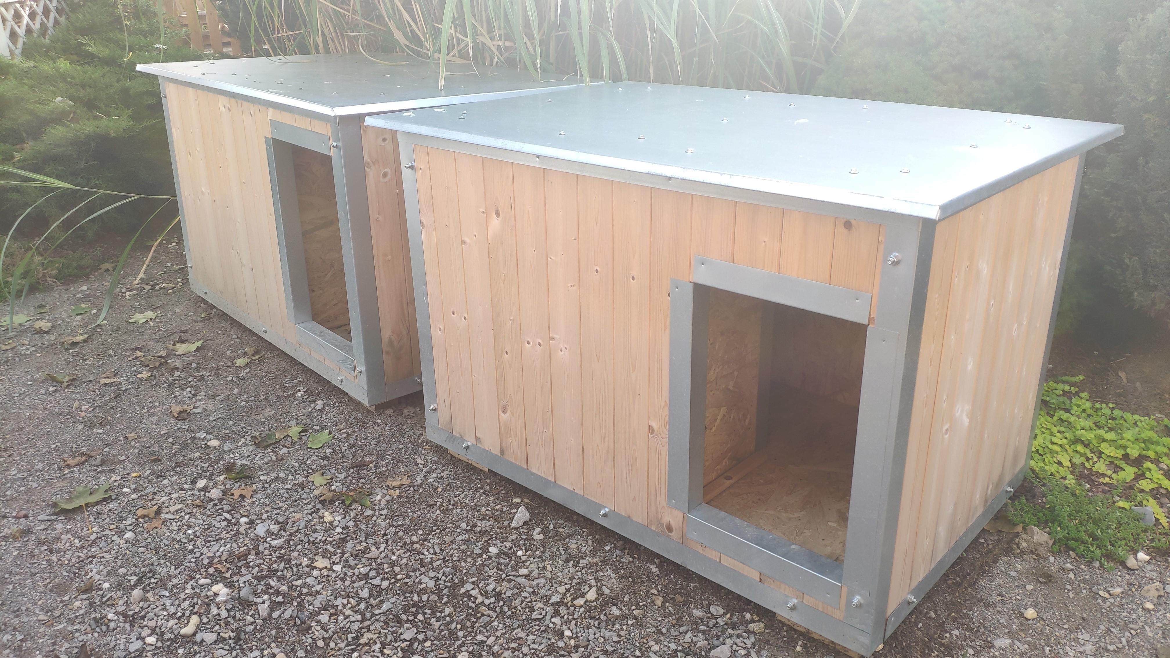 Zateplené boudy vyrábíme ze smrkových palubek