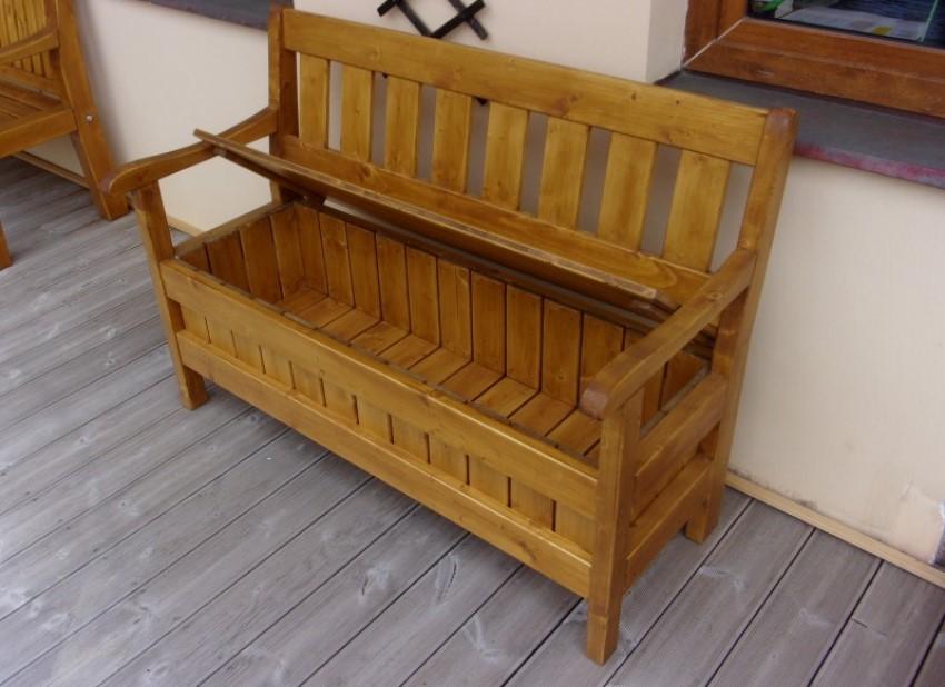 Praktická lavice Líza s úložným prostorem